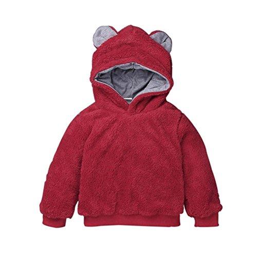 Janly Baby Kleinkind Mädchen Jungen Winter Mit Kapuze Tops Bluse T-Shirt Dicke Kinder Warme Kleidung (3T, (Für Kostüm Creeper Mädchen)