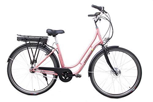28 Zoll Saxonette Fashion Plus Elektro Fahrrad E Bike Pedelec Shimano 7 Gang 36 V Rose