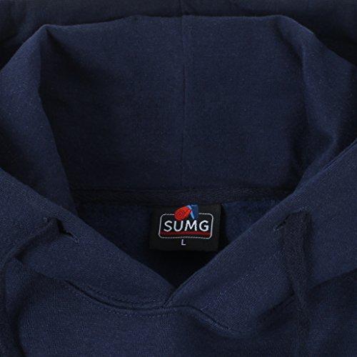 SUMG Kapuzenpullover Hoodie Kapuzen-Sweatshirt 'BASIC Hooded Pullover' Navy Blau