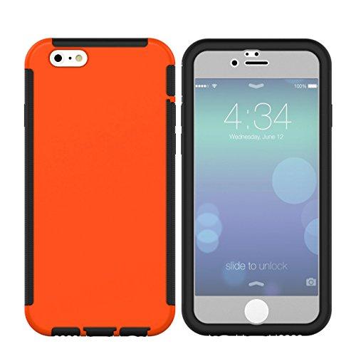 iPhone SE 5 5S Hülle,EVERGREENBUYING Wasserresistent mit integriertem Bildschirmschutz iPhoneSE Tasche [Täglich Wasserdicht ] 3 austauschbare Abdeckungen / Zubehör Case Cover für Apple iPhone SE 5 5g  Orange