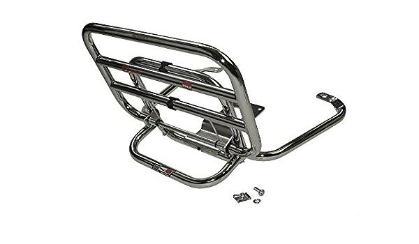 Gepäckträger Chrom Vorne Vorderer Rollergepäckträger Für Piaggio Vespa Lx Lxv S 50 125 150ie 2 Takt Und 4 Takt Auto