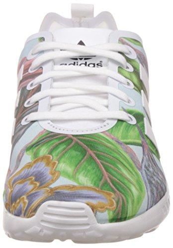 adidas Zx Flux Smooth Damen Laufschuhe Mehrfarbig (Core White/Core White/Core Black)