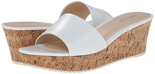 Nine West Confetty Leather Platform Sandal white