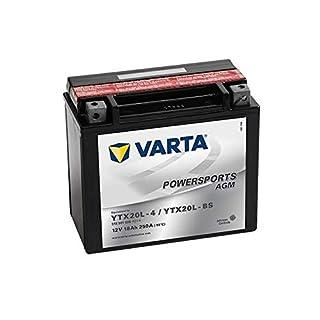 Batterie VARTA Powersports AGM YTX20L-BS / YTX20L-4 für AQUA-Jet CO. Tiger Shark 650ccm 93-98 [ inkl.7.50 EUR Batteriepfand ]
