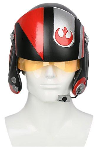 Cosplay Kostüm Helm Deluxe X-Wing Harz Maske Verrückte Kleid Replik für Herren Halloween Kleidung Zubehör (Wing Star X Wars Pilot Kostüme)