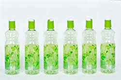 HARSHPET 29 MM AQUA RAINBOW FLIPTOP GREEN WATER BOTTLE (SET OF 6 PCS)