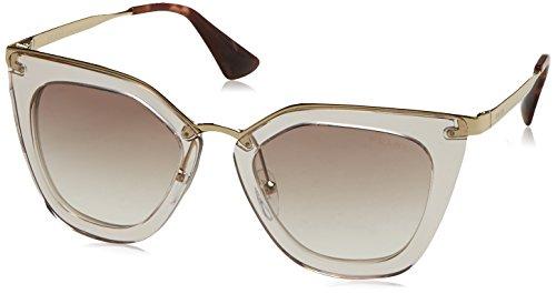 Prada Damen 0PR53SS VYT4O0 52 Sonnenbrille, Braun (Transparent Brown Silver)