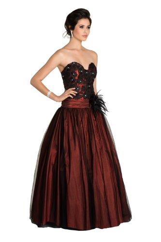 VIP Dress Robe de bal longue à jupe flottante Rouge