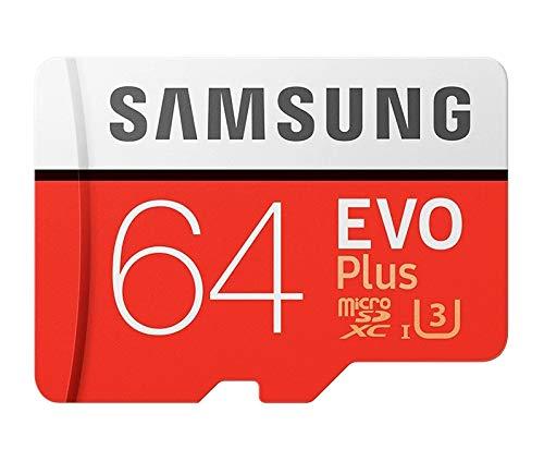 Samsung EVO Plus Scheda MicroSD da 64 GB, UHS-I, Classe U3, fino a 100 MB/s di Lettura, 60 MB/s di Scrittura, Adattatore SD più Adattatore SD USB Inclusi