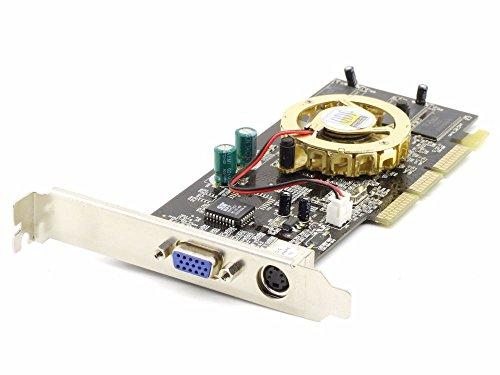 Nvidia N440SE-64MB/TV GeForce 4 GPU AGP VGA TV PC Video Adapter Graphics Card (Nvidia Mb 64 Geforce)