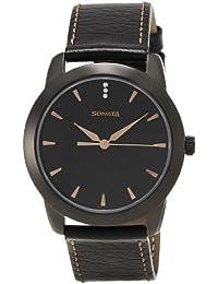 Sonata Analog Black Dial Men's Watch -NK7924NL01