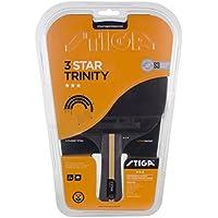Stiga 3-Star Trinity, Concave, Racchetta da Ping Pong Unisex-Adulto, Nero/Rosso, Taglia Unica