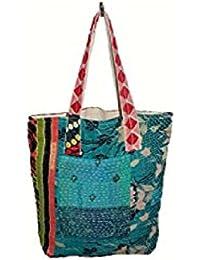 Nikita Home Furnishing Women's Cross Body Cotton Bag (Sky Blue)_Pack Of 2