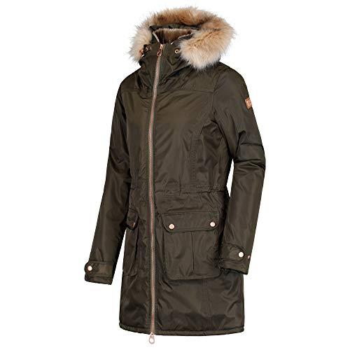 Regatta Damen Lucasta Waterproof And Breathable Insulated Jacke, Grün (Dunkles kaki), 42 Coated Twill Jacket