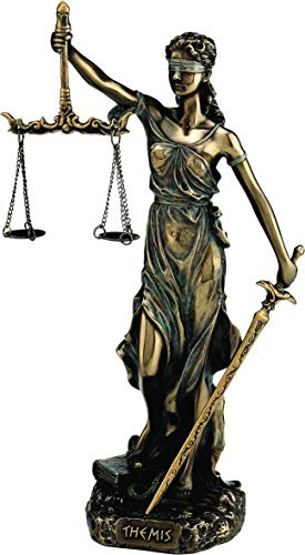 Themis Diosa griega Estatua estatuilla / Blind Lady Justice Sculpture Lawyer Gift