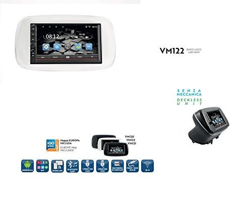 "Phonocar VM122 Custom Fit 7"" 2DIN weiß glänzend Ohne Mechanik Europa Smart ab 2014"