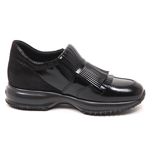Hogan E0218 Sneaker Donna Nero Interactive Doppia Frangia Shoe Woman Nero