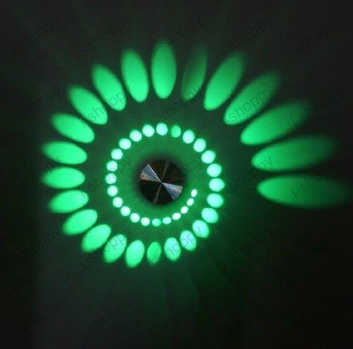 denshine (TM) spirale 3 W LED haute puissance mur Luminaire Lampe Ampoule Hôtel Sentier Maison Decor