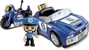 Giochi Preziosi Pinypon Action 2 Vehículos de policía con Personaje y Accesorios