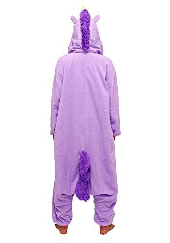 Einhorn Kostüm – Jumpsuit Cosplay, Tier Schlafanzug, Onesie für Erwachsene - 6