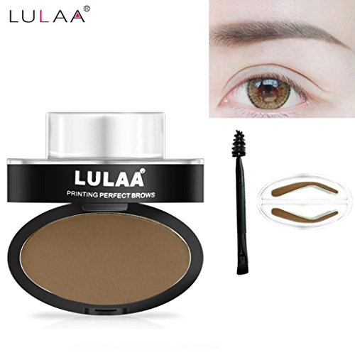 OverDose Brow Stempel Pulver Delicated Natürlich Perfect Enhancer Straight United Augenbraue Brow Stamp Powder Palette Delicated Shadow ✿Arched Eyebrow✿ (Maske Bankräuber Joker)
