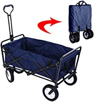 Garden Cart Folding Wagon Foldable Heavy Duty Outdoor Trolley Utility Transport Cart 80kg Max Load, for Outdoo