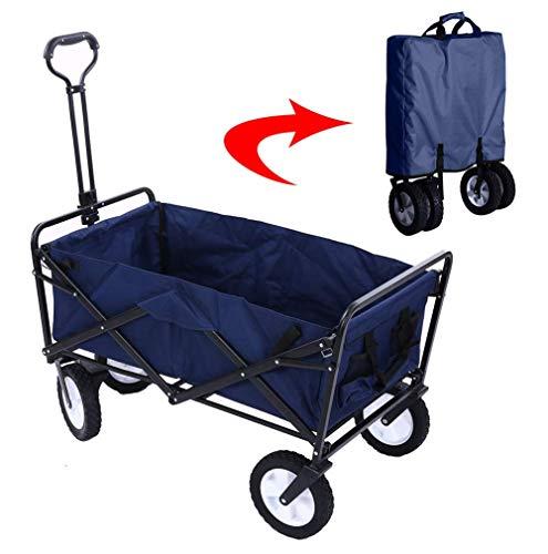 SuRose Gartenwagen Faltwagen Faltbarer Hochleistungs-Außenwagen Transportwagen 80 kg, max. Zuladung, für den Außenbereich/Festivals/Camping, blau