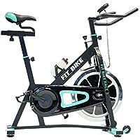 Preisvergleich für FitBike Indoor Cycle Race 3 - 18 kg Schwungrad - Poly V-Riemen und Magnetisches Widerstandssystem - Mit Trainingscomputer - Spinning Fahrrad