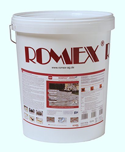 Romex 2-K Pflasterfugenmörtel ROMPOX DRÄN PLUS 25 kg Eimer NEUTRAL