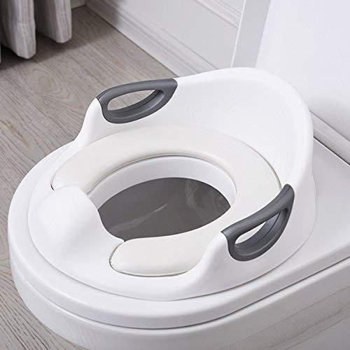 Aerobath Réducteur de Toilette, Siège De Toilette Pour Bébé Avec Coussin Poignée Dossier,...