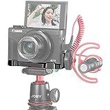 "UUrig C-G7X Mark III Canon G7X Mark III Microphone L Extension Bracket for Canon G7X Mark III Camera, 1/4"" Tripod Mount, Vlogging Accessories"