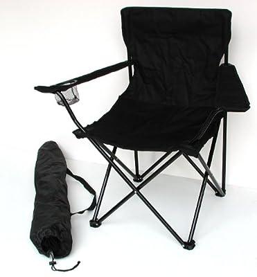 Anglersessel, Campingstuhl - klappbar mit Getränkehalter und Tragetasche - verschiedene Farben