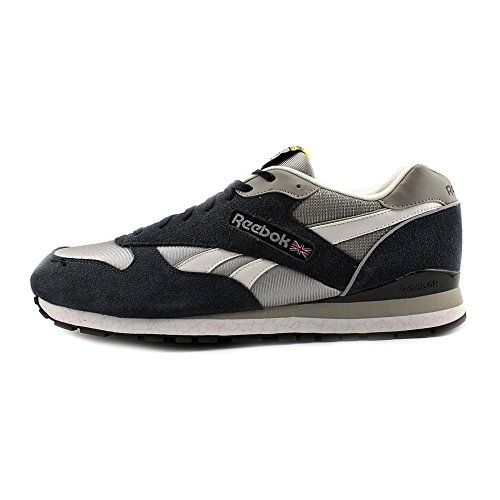 Reebok Classic Leather Black Multi Mens Trainers Navy-Gry-Wht