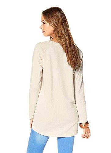 AJC - Sweat-shirt - Opaque - Femme Or ecru-gold Multicolore - ecru-gold