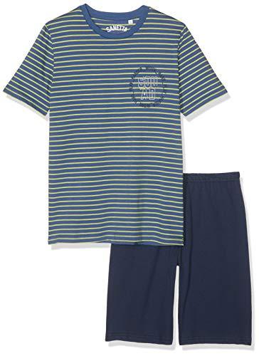 Sanetta Jungen Pyjama Short Zweiteiliger Schlafanzug, Grün (Wild Lime 4461), 164 -