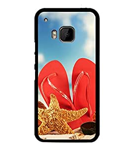 Beach Slippers 2D Hard Polycarbonate Designer Back Case Cover for HTC One M9 :: HTC One M9S :: HTC M9 :: HTC One Hima