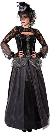(Orlob Damen Kostüm Halloween Königin Vampirin Reifrock Kleid Gr.42/44)