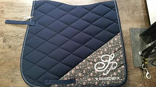SPOOKS Saddle Pad Flower, Navy, Schabracke:DL