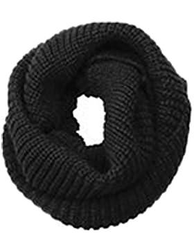 Invierno Bufanda de punto, Cuello redondo cálida bufanda de lana de punto, unisex Círculo hombre mujer