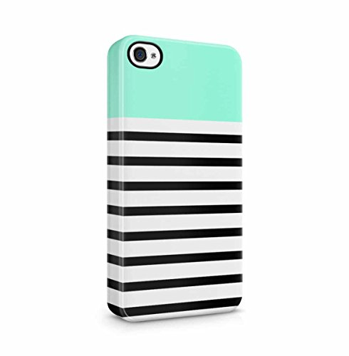Golden Chevron Zigzag Pattern Print Apple iPhone 5 , iPhone 5S , iPhone SE Snap-On Hard Plastic Protective Shell Case Cover Custodia Turquoise Stripes