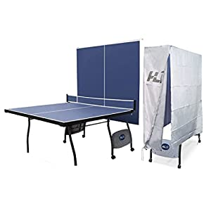 HLC 9FT Full Size Professional Folding Ping Pong Table Indoor Outdoor Fitness Table Tennis Table with Net + Waterproof Protective Folding Table Tennis Table Cover Review 2018 by HLC Metal Parts LTD