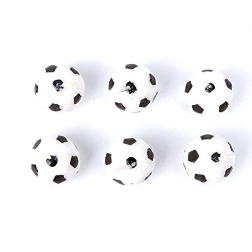 rryilong - Juego de 6 Velas de fútbol para la decoración de...