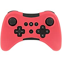 Assecure Silicone Skin Protective Cover for Wii U Pro Controller Rubber Bumper Case - (Red) [Importación Inglesa]