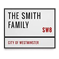 Personalised Street Sign Artwork Print // custom artwork with family names // new house gift // custom postcode // gift for couple // house warming gift
