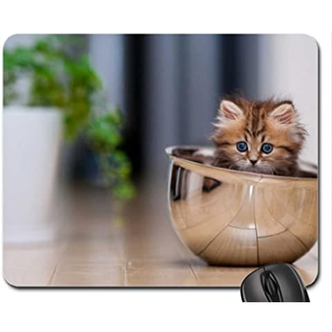 Kitty in a bowl Mouse Pad, Mousepad (Cats Mouse (Kitty Bowl)