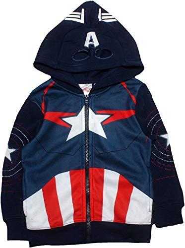 Marvel Avengers Kinder Jungen Reißverschluss Pullover Hoodie Sweatshirt Blau 3-4 Jahre 3 Pullover Hoodies