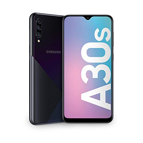 samsung galaxy a30s display 6.4, 64 gb espandibili, ram 4 gb, batteria 4000 mah, 4g, dual sim, smartphone, android 9 pie, [versione italiana], nero