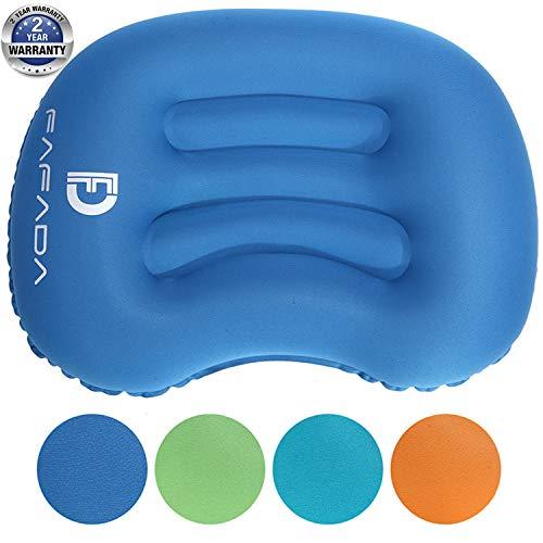 Fafada Camping Kissen Aufblasbares Kissen Reisekissen Faltbar Nackenkissen Flugzeug Leichtes Pillow für Wandern Büro Urlaubsreise Blau