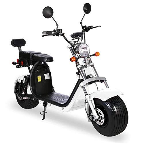 Elektroroller mit Straßenzulassung Chopper X7, E-Scooter, E-Roller, E Roller E-Scooter mit Straßenzulassung Elektro Roller Scooter, 2000 Watt, Weiß