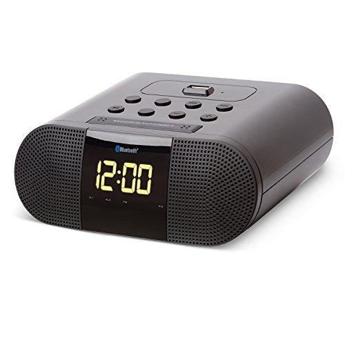 SoundLogic XT Wireless Bluetooth Alarm Clock Radio With Built-In 2.1A USB Charging Port